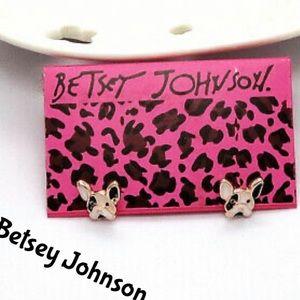 Betsey Johnson Cute Bulldog Puppy Earrings